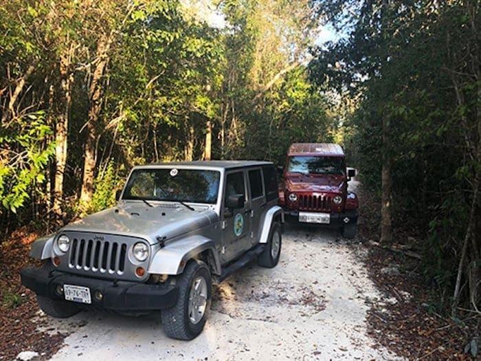 cozumel jungle jeep jade cavern and cenote